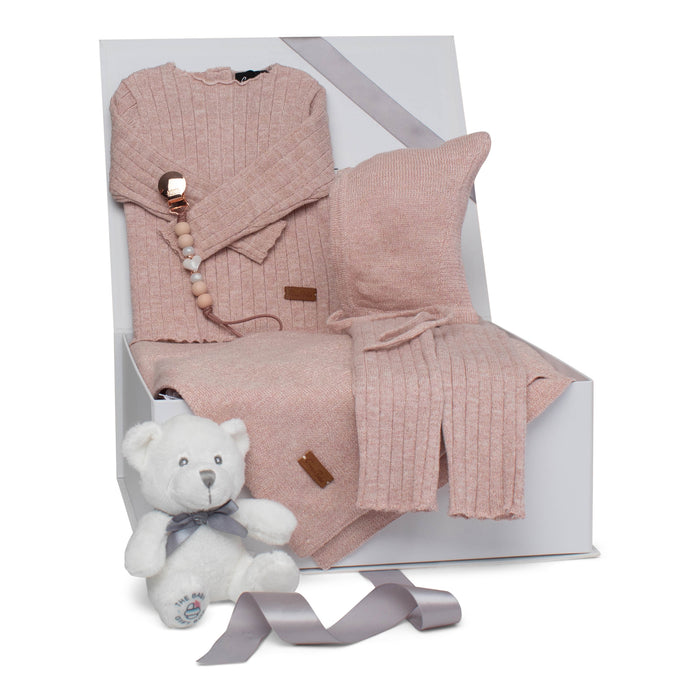 Baby Girl Gift Set | Luxury Lurex | Mauve