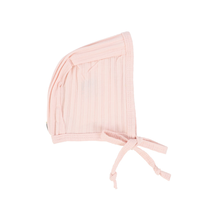 Baby Bonnet | Lil Legs | Wide Ribbed Bonnet -Baby Pink