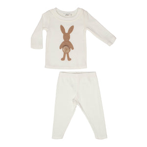 Baby 2 Piece Outfit | Oh Baby | Honey Bunny - Cream/Light Brown
