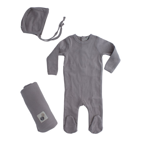 Baby Clothes Layette Set Grey