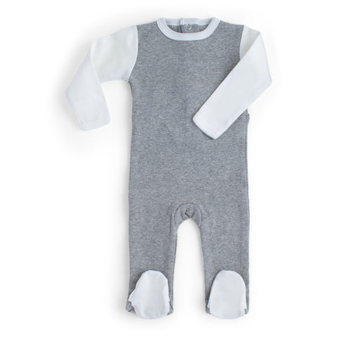 Layette Collection | Chic Bowtique |  3 Piece Set | Grey + White