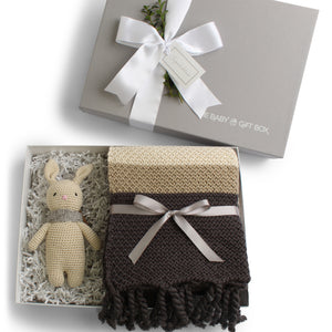 Splendid Spools | Baby Gift Set | Grey & Natural Fringed
