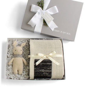Splendid Spools | Baby Gift Set | Natural & Black Squares