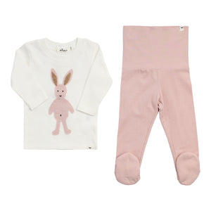 Layette Collection | Footie Set Ballerina Bunny | Oh Baby! | Pink