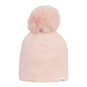 Layette Collection | Snap Fur Pompom Hat | Oh Baby! | Pink
