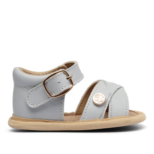 Baby Soft Sole Sandal | 'The Boho' By TBGB | Blue-Grey Sky