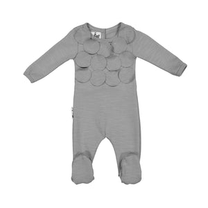Baby Footie | Maniere | Circle Time | Grey