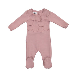 Baby Footie | Maniere | Circle Time | Mauve