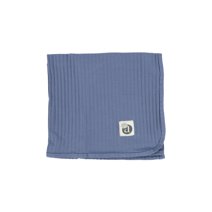 Baby Blanket | Lil Legs | Wide Ribbed Blanket - Deep Blue