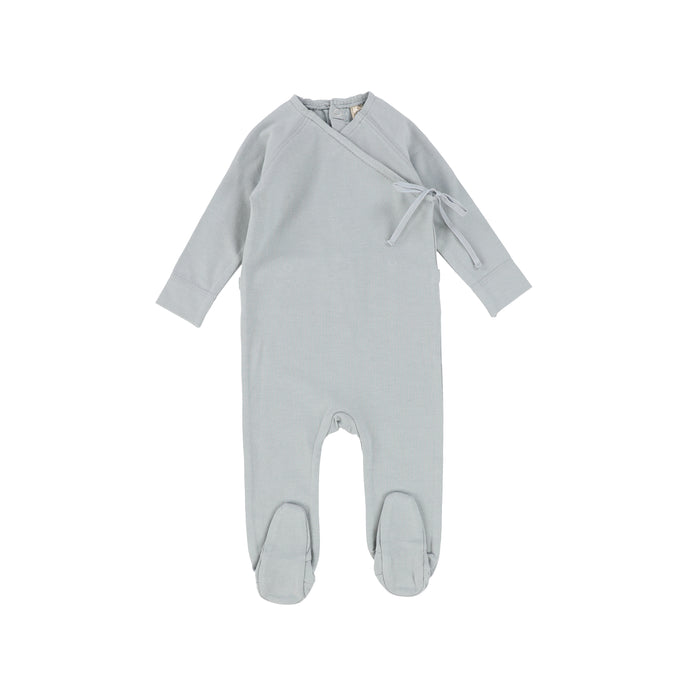 SS21 | Lil Legs | Brushed Cotton Wrapover Set | Dusty Blue