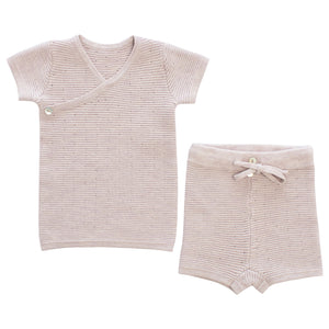 Baby Girl 2 Piece Set | Dot Knit | Lavender | Kipp SS21