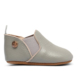 Baby Moccasins | Grey Leather
