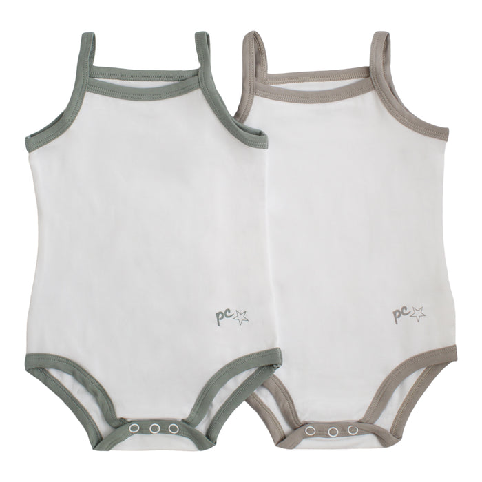 Bodysuit / Undershirt | Petit Clair| Boy 2 Pak | White with Trim