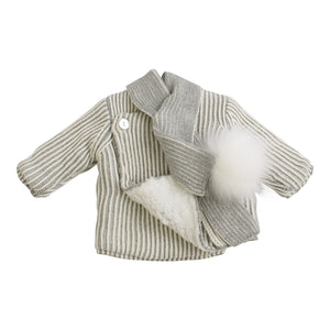 Cloud Nine | Baby Gift Set | Grey Pinstripes