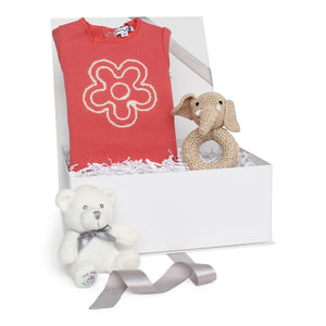 Baby Girl Gift Set AW20 | Flower Power | Coral