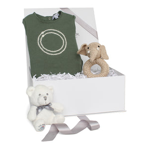 Baby Boy Gift Set AW20 | Concentric Circles | Green
