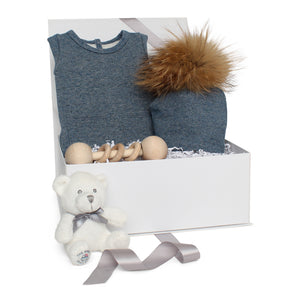 Baby Boy Gift Set AW20 | Sparkle Terry | Denim Blue