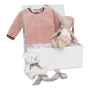 Baby Girl Gift Set AW20 | Velour Vibes | Dusty Pink