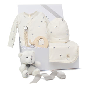 Baby Boy Gift Set | Poppy Charm | Ivory/ Blue | SS21