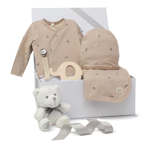 Baby Boy Gift Set | Poppy Charm | Taupe/ Blue | SS21