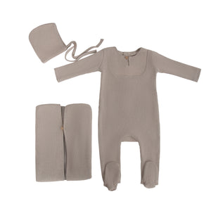Baby Layette Set | Textured Waffle | Taupe | Cadeau SS21