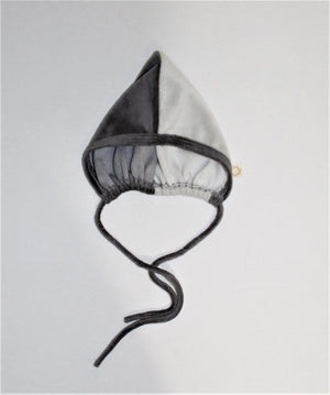 Baby Bonnet | Citrine | 2 Color Velour | Grey
