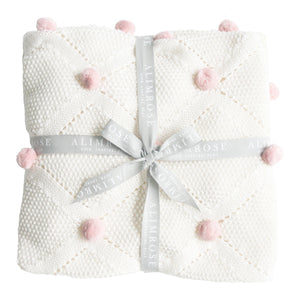 Organic Cotton Knit Blanket | Alimrose | 3 Colors Available