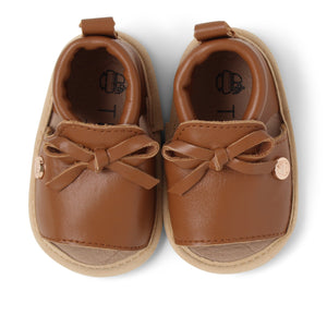 Baby Soft Sole Shoe | 'The August' By TBGB | Luggage Brown