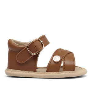 Baby Soft Sole Sandal | 'The Boho' By TBGB | Luggage Brown