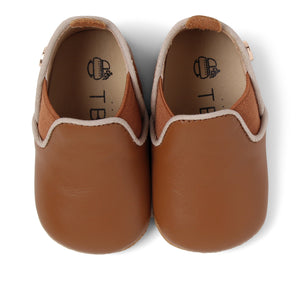 Baby Moccasins | Luggage Brown Leather