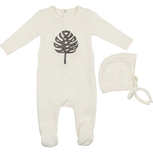 Baby Footie & Bonnet | Mon Tresor SS21 | Make Be-Leaf | Ivory