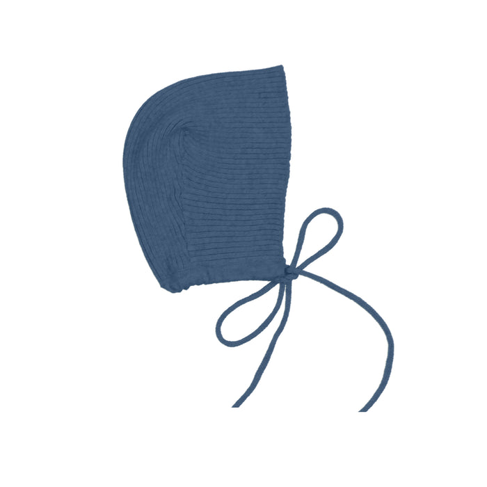 Knit Bonnet | Maniere | Heather Blue