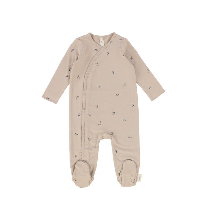 Baby Boy Footie+Beanie | Poppy | Pale Taupe/Pewter | Lil Legs SS21