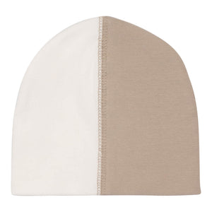 Patchwork Beanie | Maniere | Grey /White