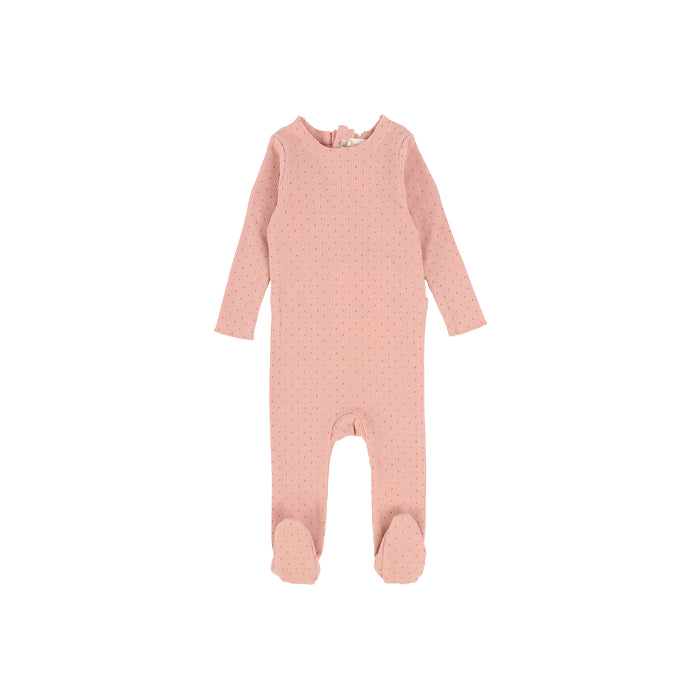 Baby Footie | Lil Legs | Dot - Pink\Pink