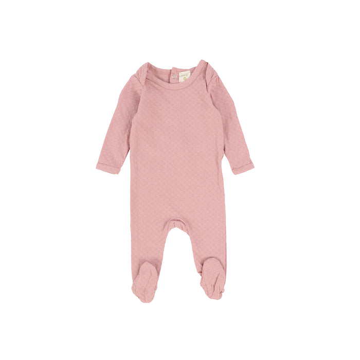 Baby Footie | Lil Legs | Pointelle - Pink