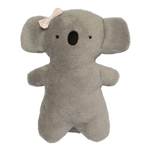 Grey plush koala doll red dot bow