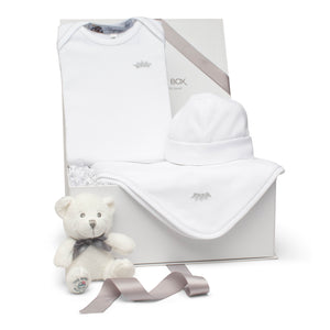SS20 Baby Gift Set | Crown Prince | White Lurex