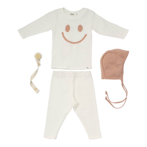 Baby Gift Set Happy Sparkle Rose Gold