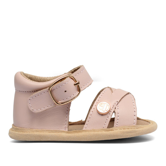 Baby Soft Sole Sandal | 'The Boho' By TBGB | Seashell Pink