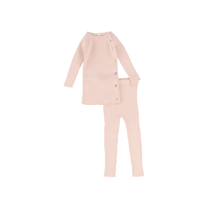 Baby Girl 2 Piece Set | Knit | Soft Pink | Lil Legs SS21