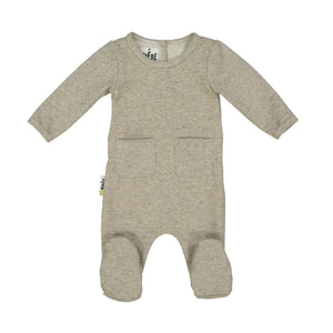 Baby Footie | Maniere | Sparkle French Terry | Sand