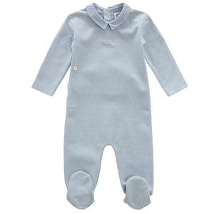 Baby Boy Layette Set | Collar | Blue | Kipp SS21