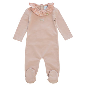 Baby Girl Layette Set | Ruffled Collar | Blush | Kipp SS21