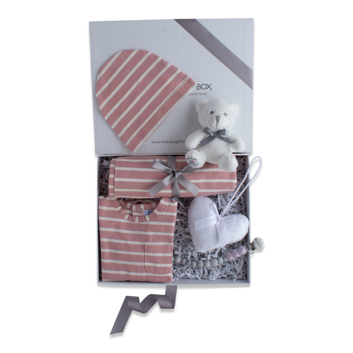 Striped Delight | Baby Gift Set | Pink