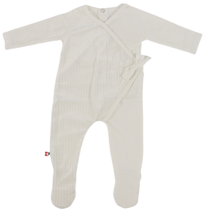 Two Toned Wrap Footie | Blinq | Ivory