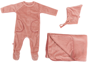 Velvet Trim Set | Blinq | Deep Pink