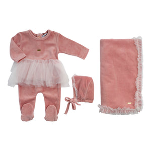Layette Collection | 3 Piece Ballerina Set | Cream Bebe