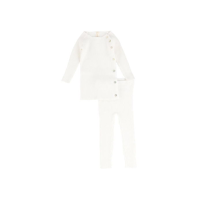 Baby 2 Piece Set | Knit | White | Lil Legs SS21