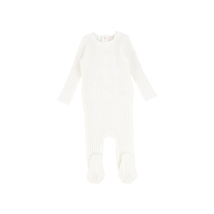 SS21 | Lil Legs | Footie | Wide Ribbed | Winter White